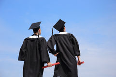 Back view of graduates student Royalty Free Stock Photography
