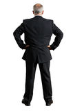 Back view of grey-haired businessman Stock Photos