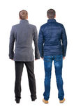 Back view group of people in jacket. Royalty Free Stock Image