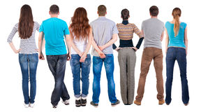 Back view group of people  looking Royalty Free Stock Photography