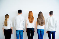 Back view of group of people royalty free stock photography