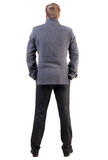 Back view of handsome business man in coat Royalty Free Stock Photography