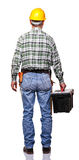 Back view of handyman Stock Photography
