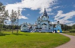 Back view. Holy-Vladimir Skete.Valaam Transfiguration Monastery. Royalty Free Stock Photos