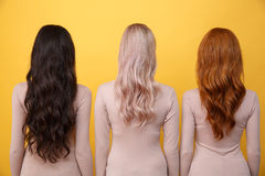 Back view image of young three ladies Stock Photography