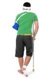 Back view of injured man Stock Image