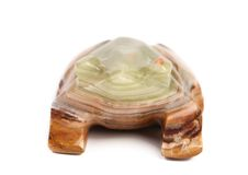 Back view of jade turtle. Royalty Free Stock Image