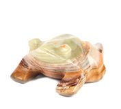 Back view of jade turtle. Stock Photos