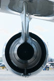 Back view of a jet engine royalty free stock photo
