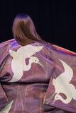 Back view of kimono woman Stock Photography