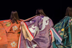 Back view of kimono woman Royalty Free Stock Photography