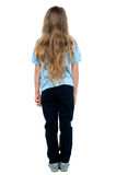 Back view of a long haired young female child Stock Photos