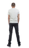 Back view of man in trousers. Stock Images