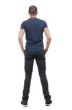 Back view of man in trousers. Stock Image