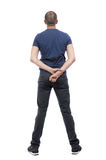 Back view of man in trousers. Stock Photos