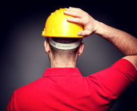 Back view of manual worker Stock Photos