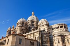 Back view of Marseilles Cathedral (XIX c.) Royalty Free Stock Images