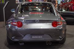 Back view of Mazda MX-5 stock photography