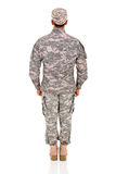 Back view military man Stock Photos