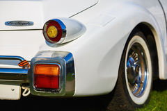 Back view of Mitsuoka Le-Seyde. Royalty Free Stock Photos