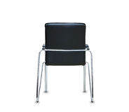Back view of modern office chair from black leather. Stock Photography