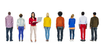 Back View of Multi-Ethnic People Royalty Free Stock Images