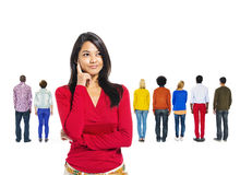 Back View of Multi-Ethnic People Royalty Free Stock Image