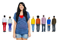Back View of Multiethnic People Royalty Free Stock Photography