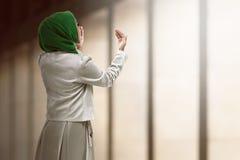 Back view of muslim woman praying Royalty Free Stock Images