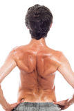 Back view of naked man Stock Images