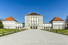 Back view of the Nymphenburg Palace royalty free stock photography