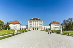 Back view of the Nymphenburg Palace Royalty Free Stock Images