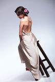 Back View Of Beauty Woman On Chair Royalty Free Stock Images