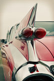 Back view of old car, retro Royalty Free Stock Images