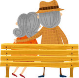 The back view of old couple Royalty Free Stock Photos