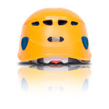 Back view of orange climbing helmet Royalty Free Stock Photography