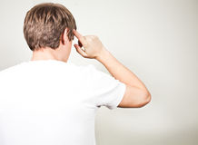 Back view of pensive man thinking Stock Photography