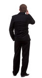 Back  view people collection. Rear view of business man in black Royalty Free Stock Images