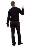 Back view of pointing business man. Stock Photo