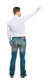 Back view of pointing business man. Stock Image