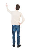 Back view of pointing business man. Royalty Free Stock Image