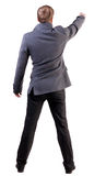 Back view of pointing business man Royalty Free Stock Photo