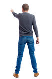 Back view of pointing business man. Royalty Free Stock Photography