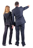 Back view of  pointing business team Royalty Free Stock Photo