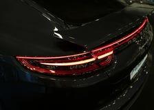 Back view of a Porsche Panamera Turbo 2017. Rear Headlight .Car exterior details. Stock Image