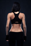 Back view portrait of a fitness woman Royalty Free Stock Photo