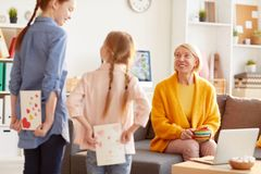 Kids Surprising Mother royalty free stock photography