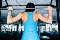Back view portrait of a woman working out Royalty Free Stock Photography