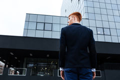 Back view portrait of a young businessman Stock Photography