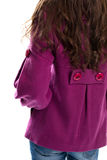 Back view of purple coat. Royalty Free Stock Photography